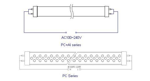 led灯管接线图